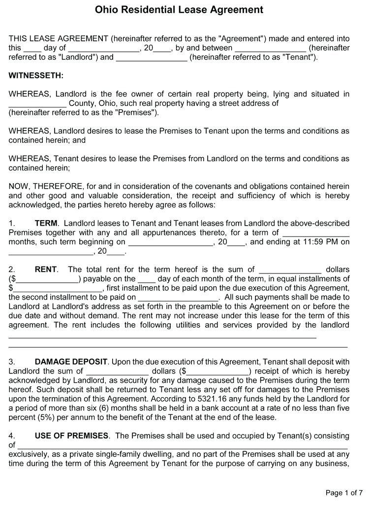 Simple Land Rental Agreement Template