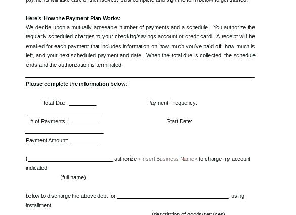 Simple Payment Agreement Template Word