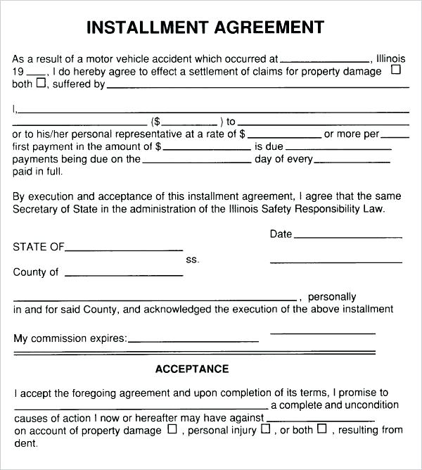 Simple Payment Agreement Template