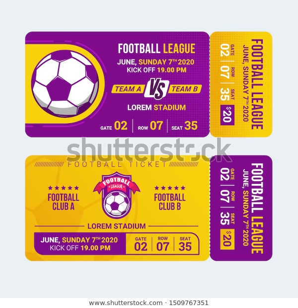 Sport Ticket Template Free