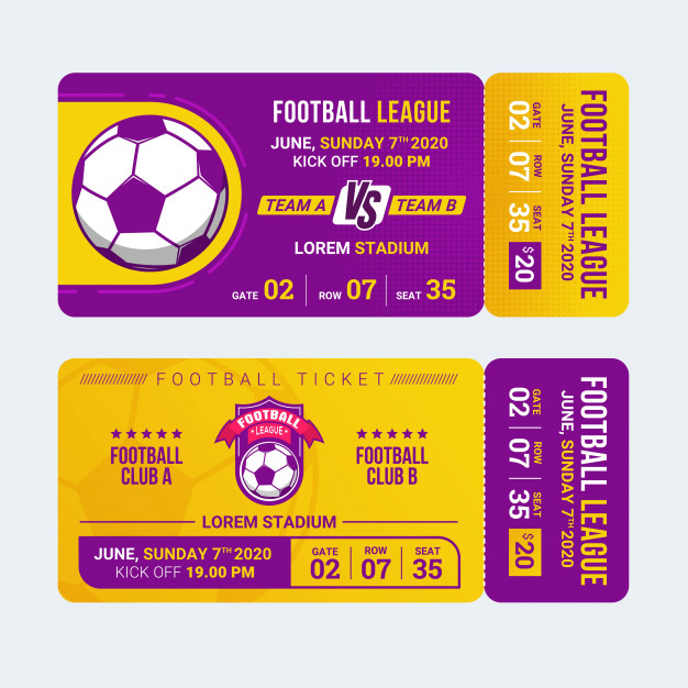Sport Ticket Template