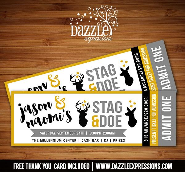 Stag Tickets Template Free