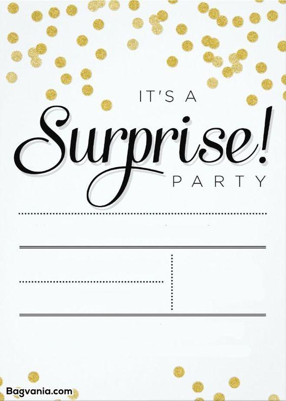 Surprise Party Invite Template