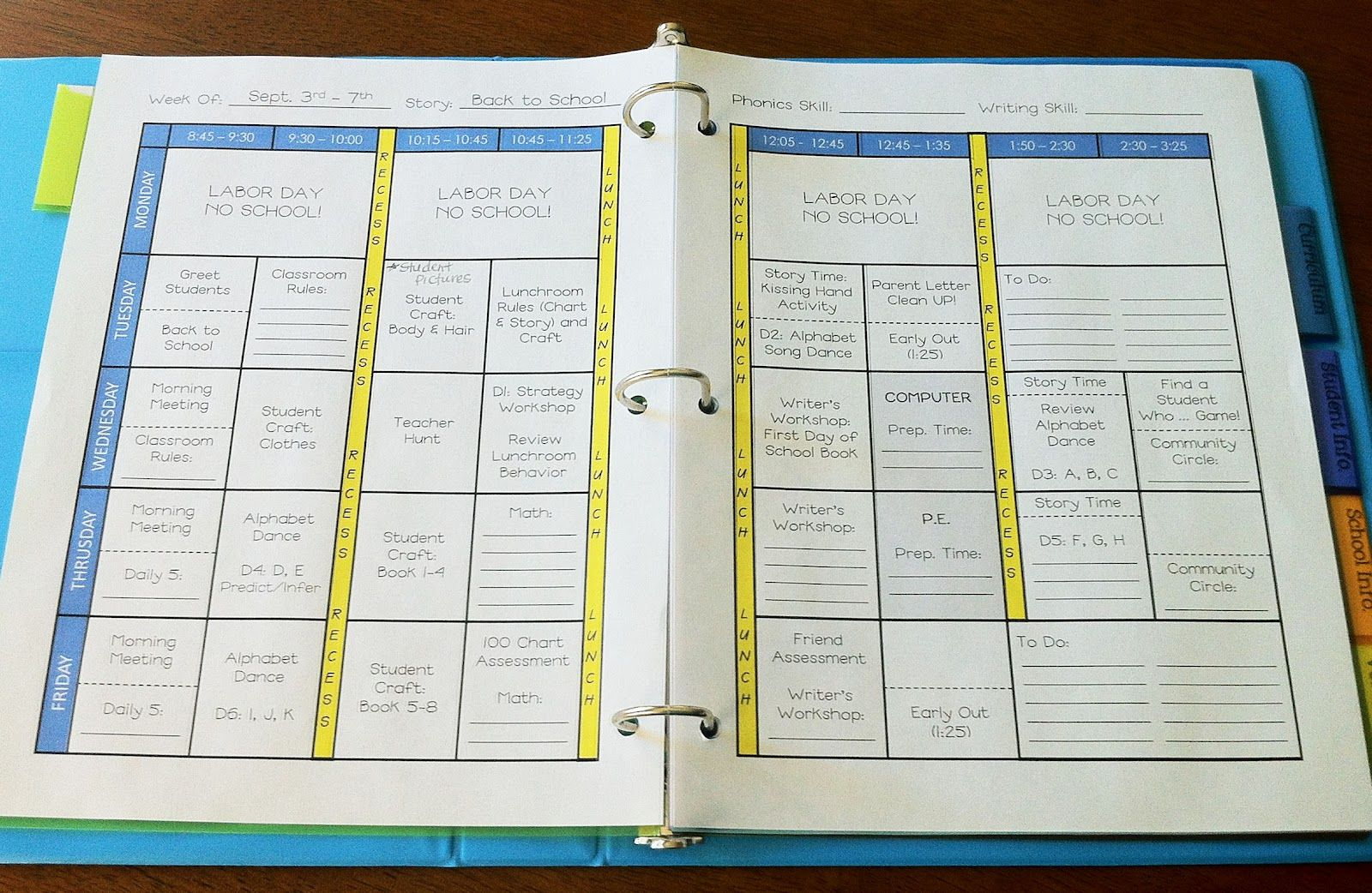 Teacher Weekly Planner Template Download
