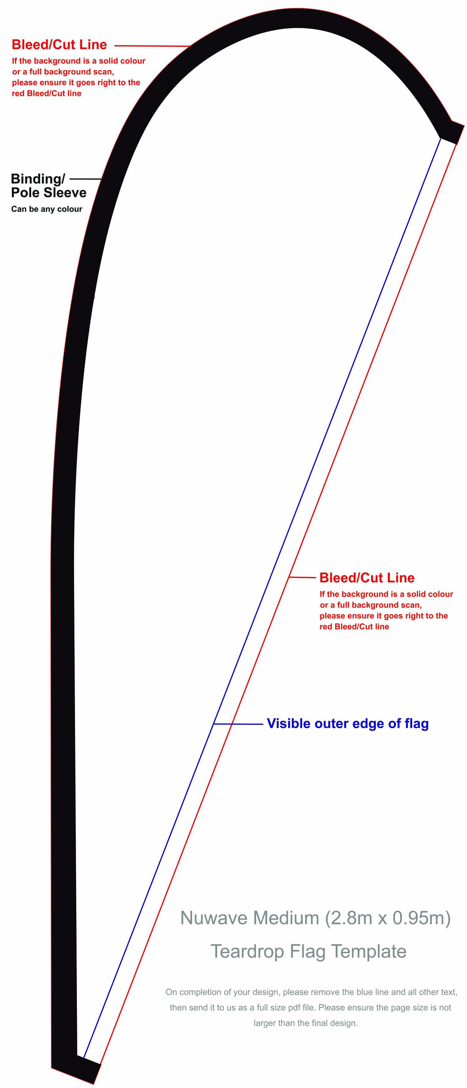 Teardrop Flag Template