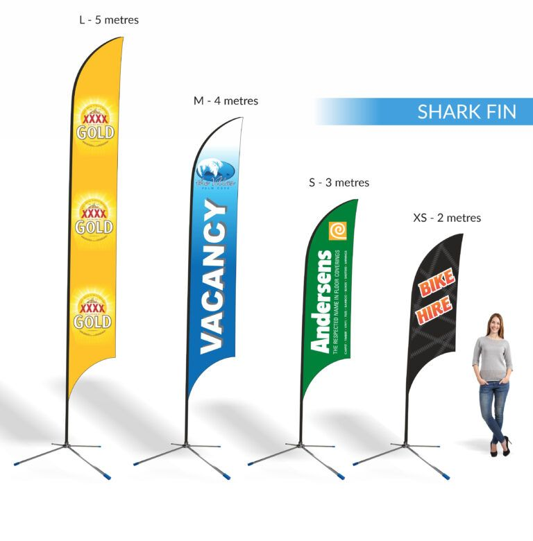 Teardrop Sharkfin Banner Template