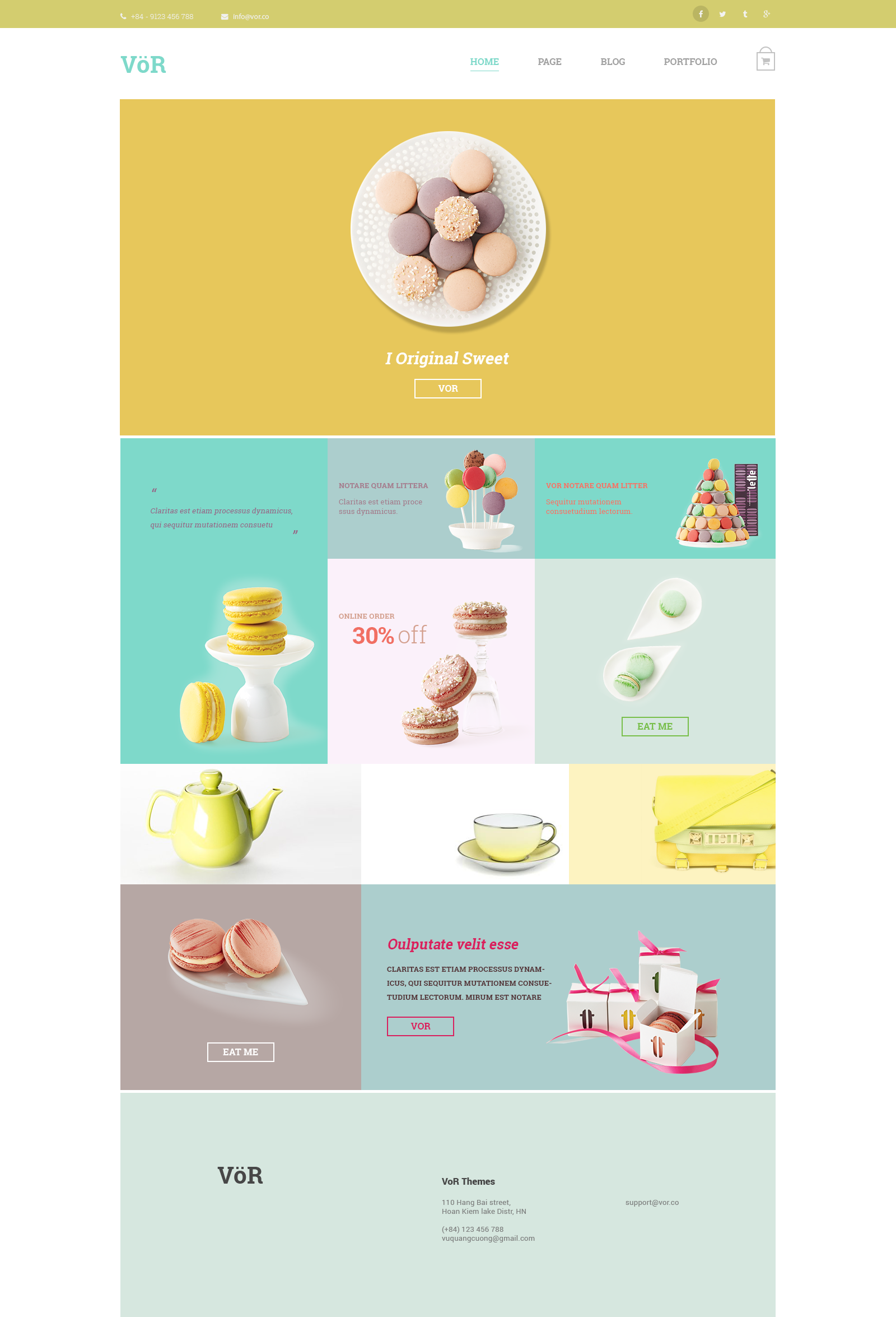 Template Cake Website Design