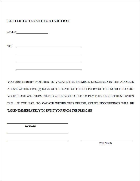 Template Eviction Notice