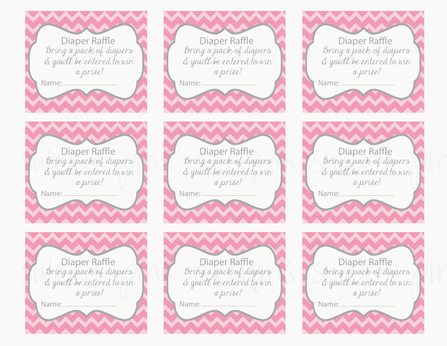 Template Free Baby Shower Raffle Tickets