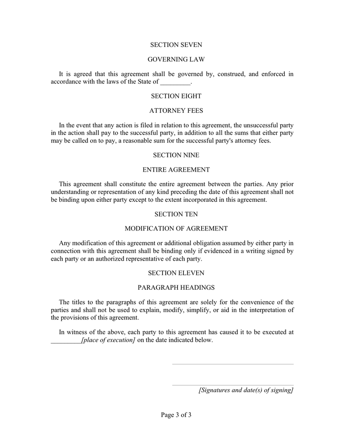 Template Of Residential Lease Agreement
