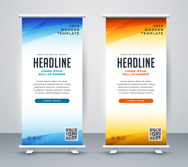 Template Stand Banner Design