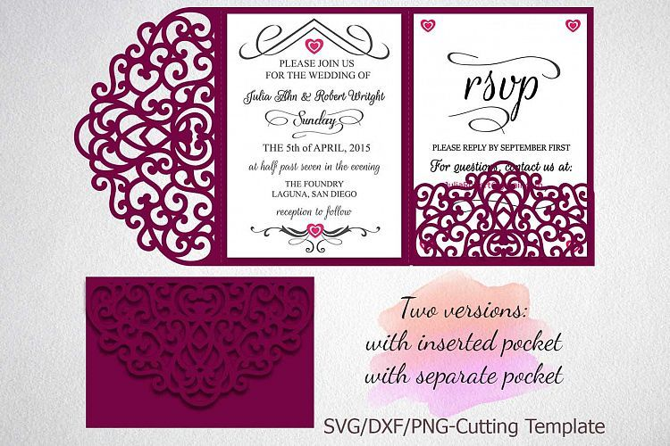 Tri Fold Wedding Invitation Template
