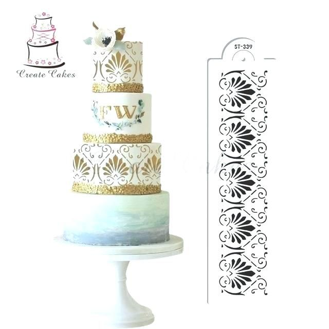 Wedding Cake Piping Templates