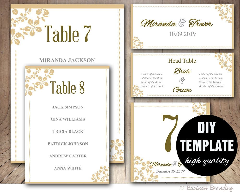 Wedding Seating List Template