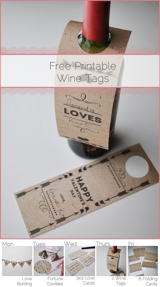 Wine Bottle Tags Template Free