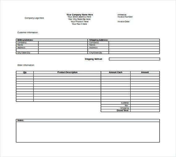 Word Templates For Invoices Free