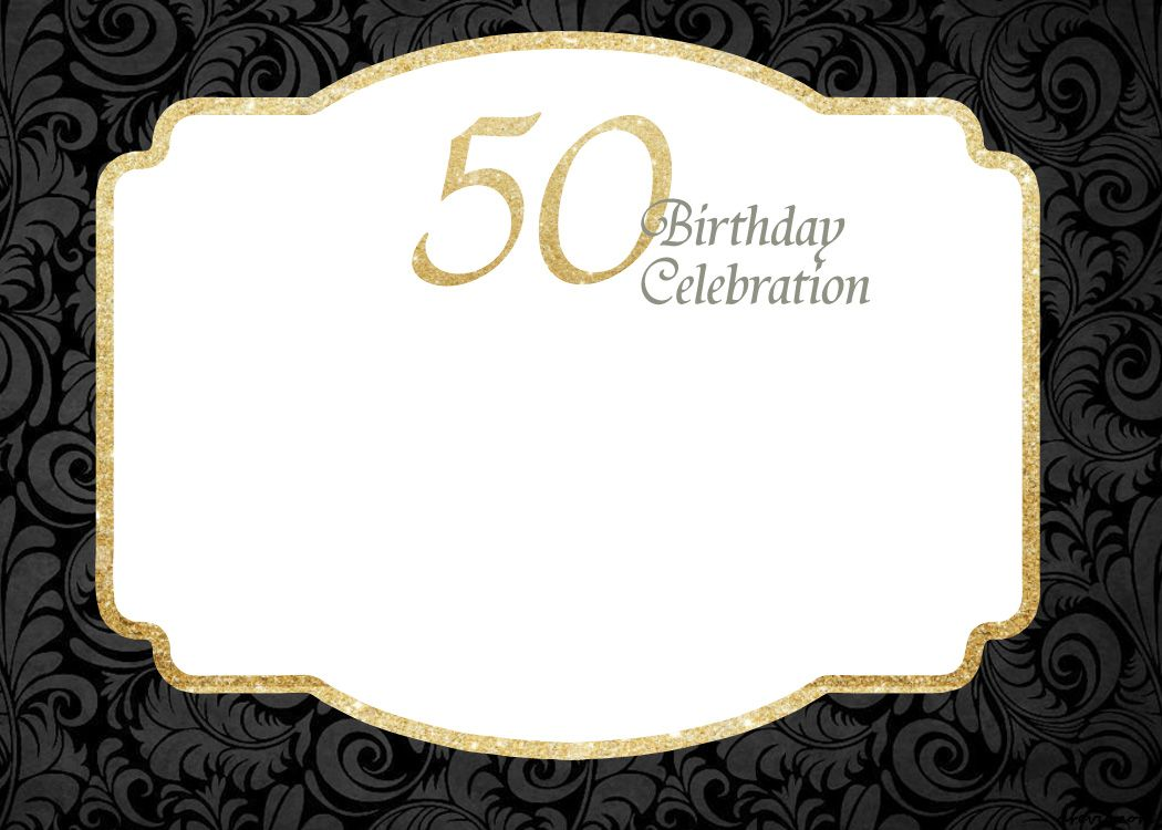 50th Birthday Invitations Templates Free Printable