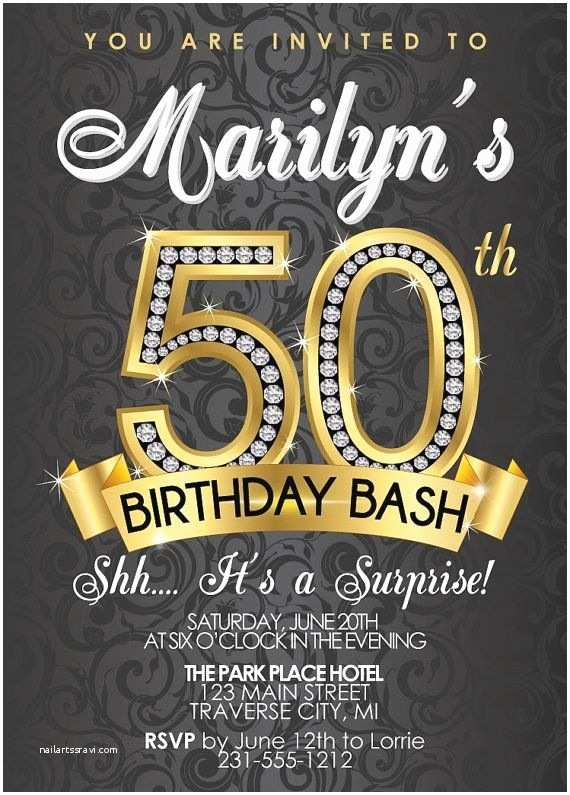 50th Birthday Party Invitations For Her 50th Birthday Invitations Templates Free