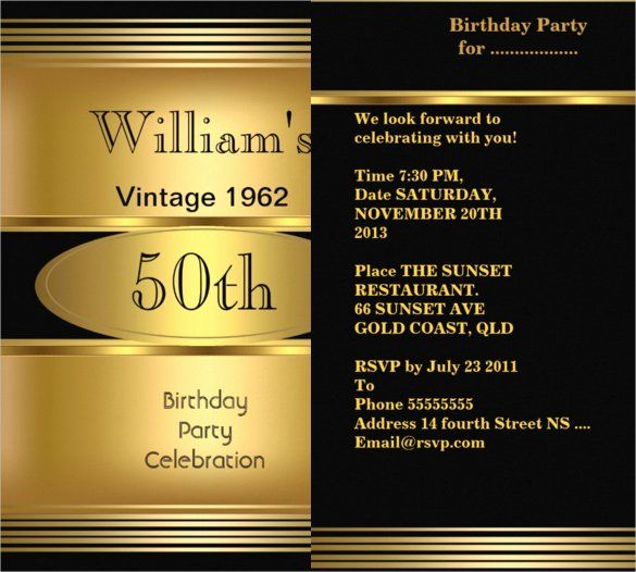 50th Birthday Party Program Template