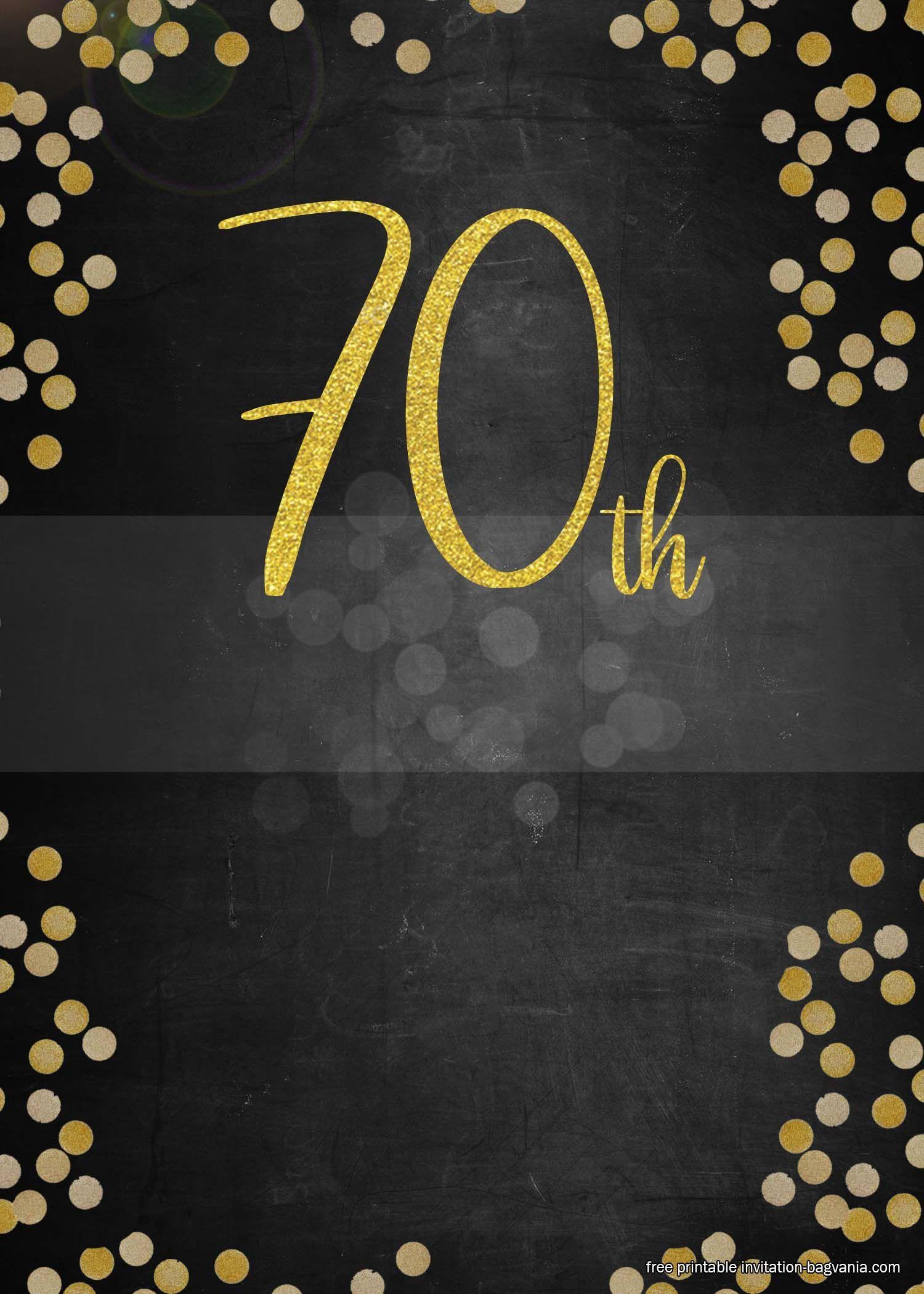 70th Birthday Invitation Templates Free