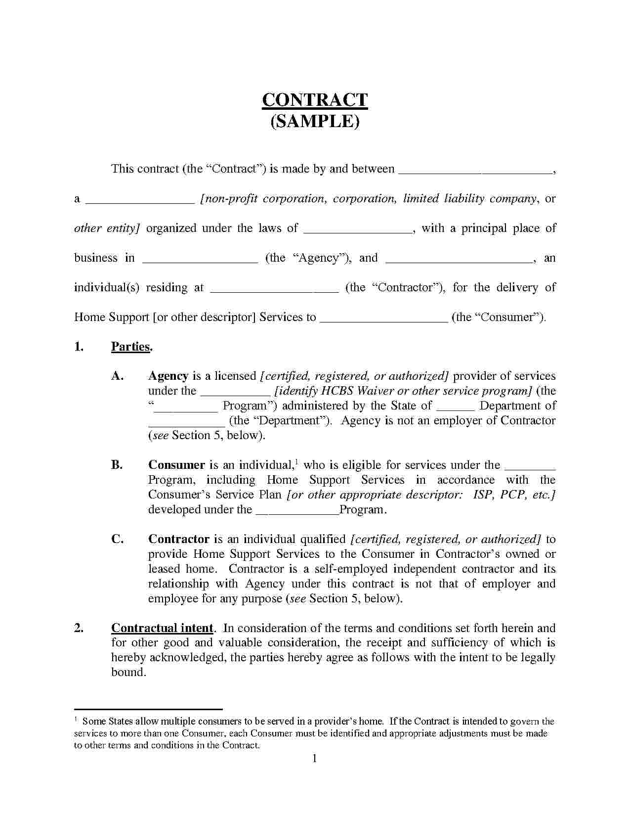 Auto Repair Contract Template Free
