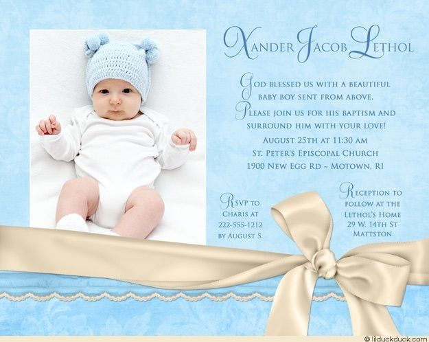 Baby Boy Baptismal Invitation Template