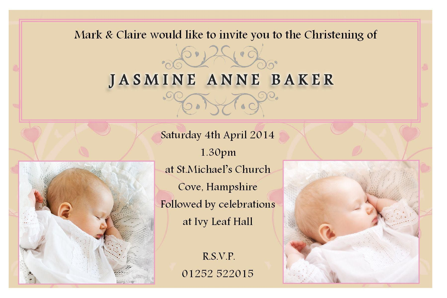 Baby Dedication Invitation Template