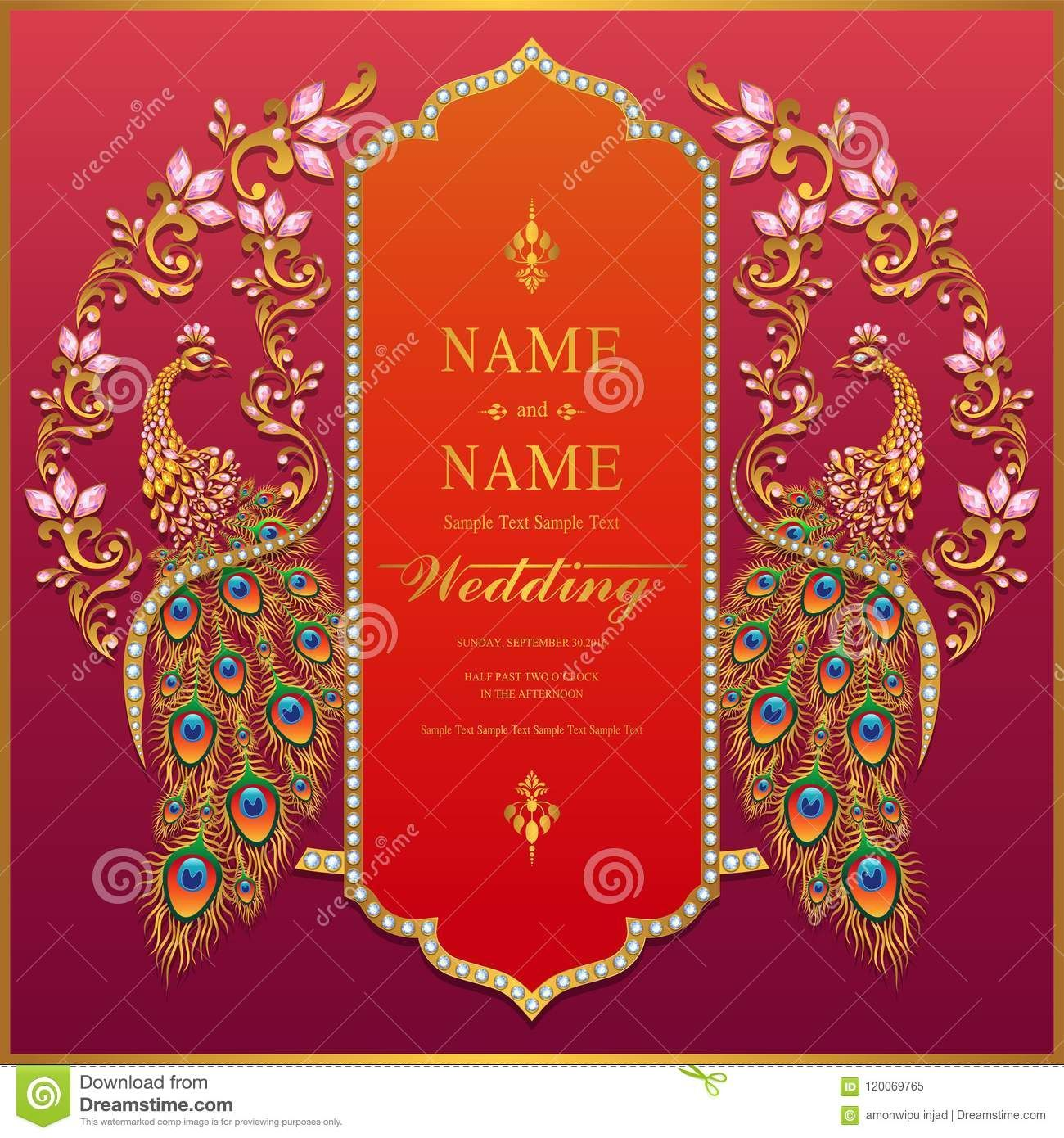 Background Indian Wedding Invitation Templates