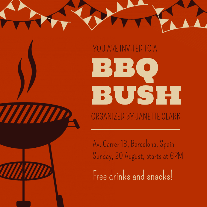 Barbecue Invite Template