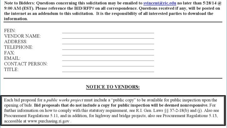 Bidding Proposal Template