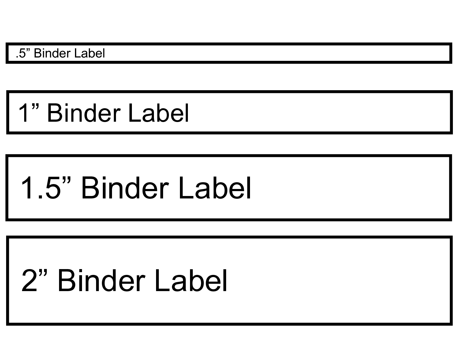 Binder Spine Labels Template