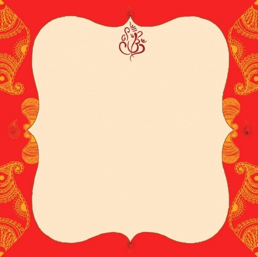 Blank Indian Wedding Invitation Templates