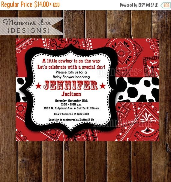 Blank Western Invitation Templates