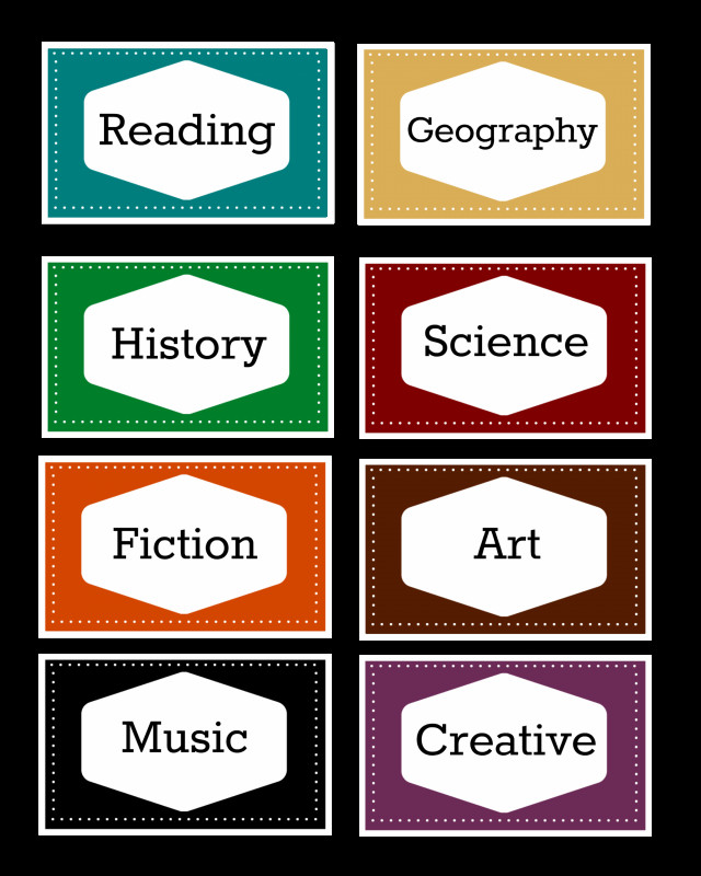 Book Spine Labels Template