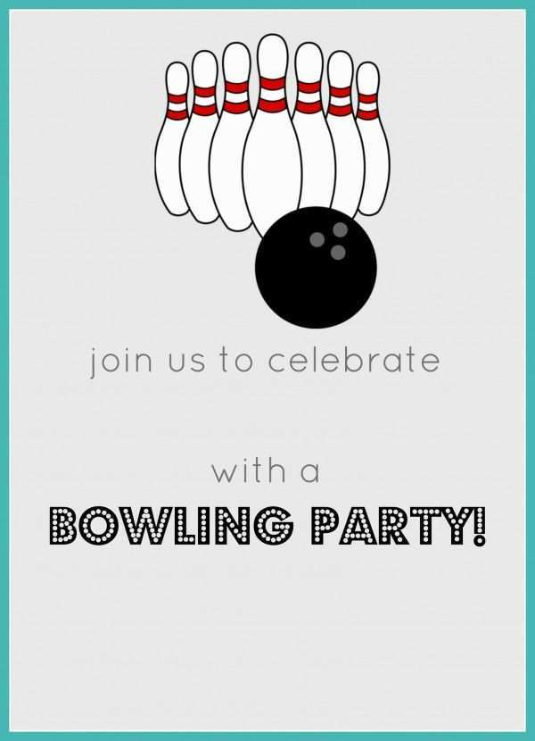 Bowling Pin Invitation Template Free