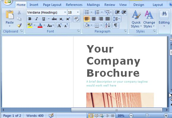 Brochure Maker Template Word