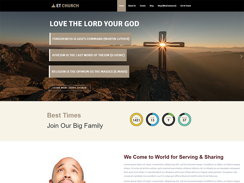 Church Website Templates WordPress