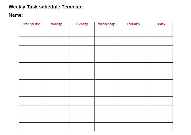 Daily Task Daily Schedule Planner Template