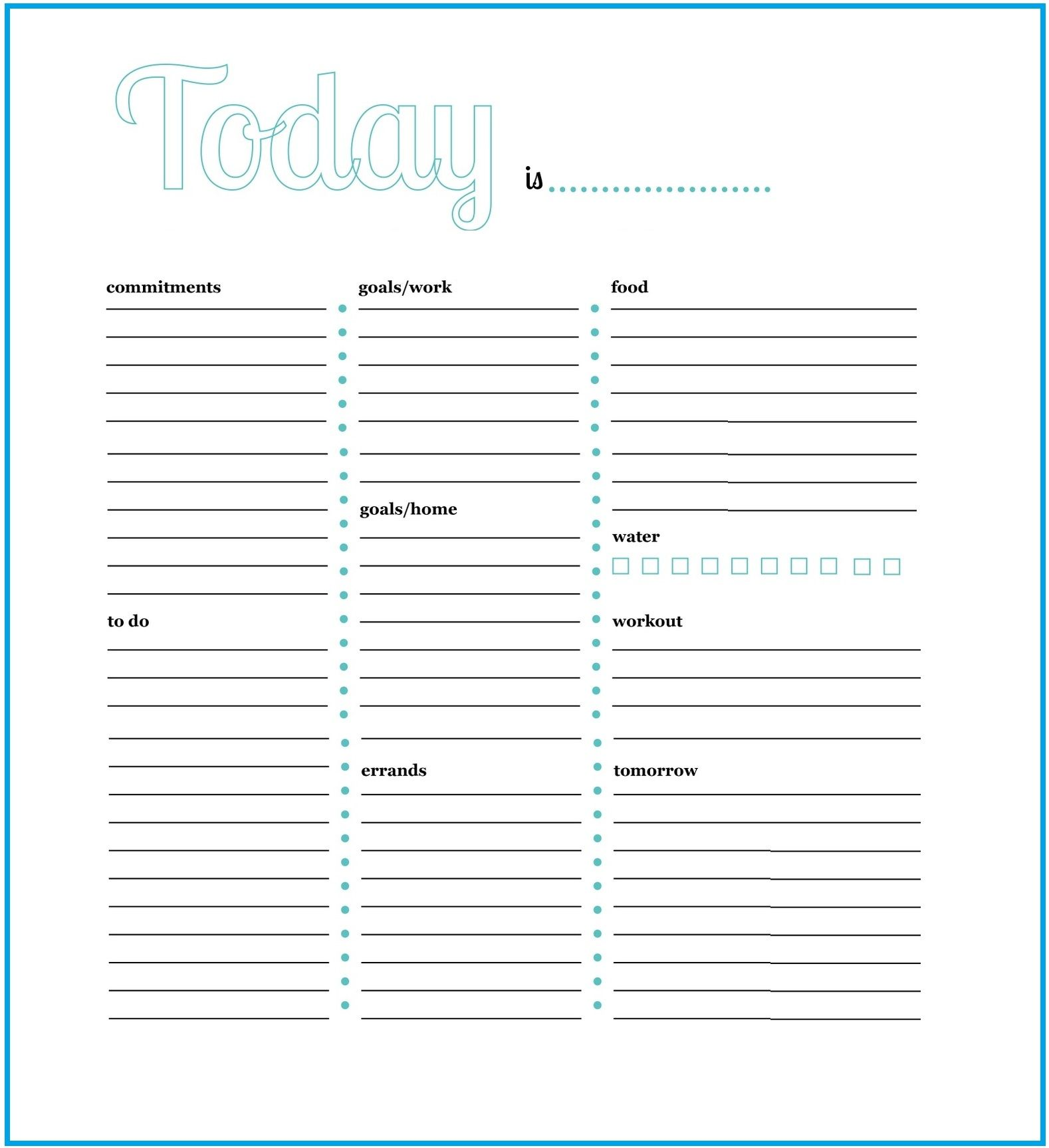 Daily Task Daily Work Planner Template