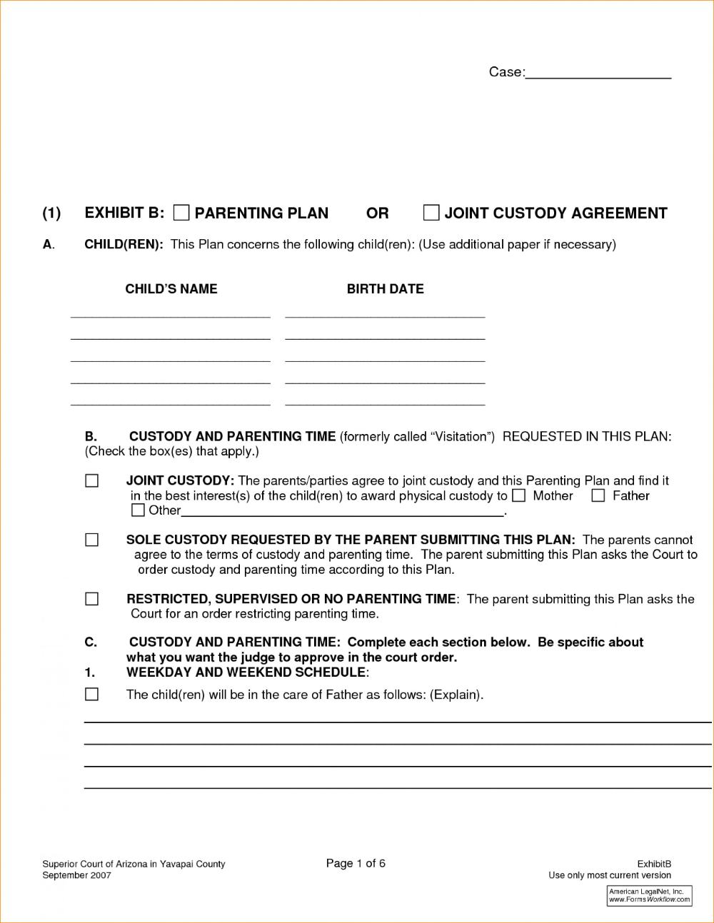 Divorce Affidavit Template