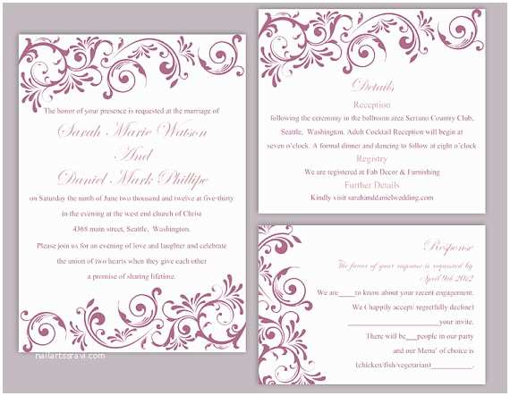 Free Wedding Invitation Templates For Word Editable Wedding Invitation Free Download Yaseen For