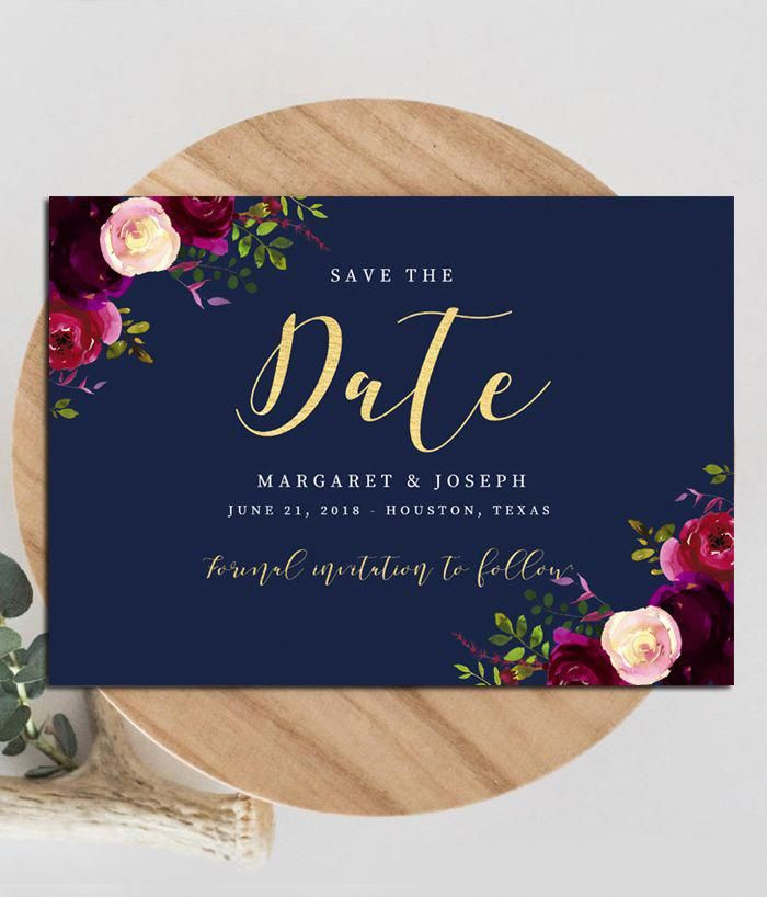 Editable Save The Date Wedding Template