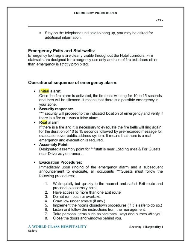 Emergency Evacuation Procedure Template