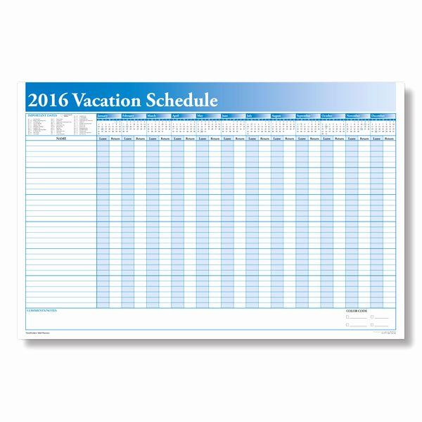 Employee Vacation Planner Template Excel 2020