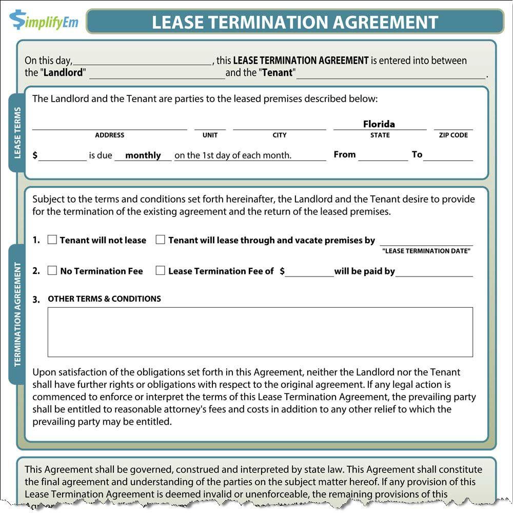 Florida Rental Lease Agreement Templates