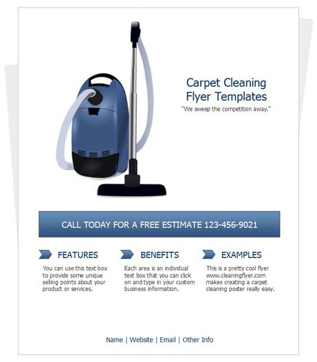 Free Carpet Cleaning Flyer Templates