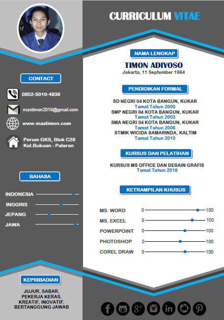 Free Download Template Cv Kreatif Word