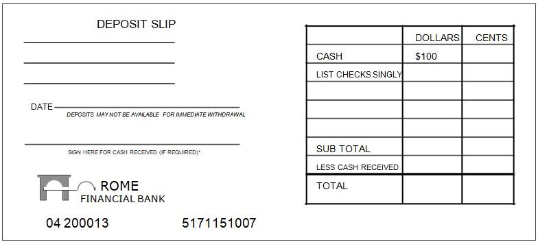 Free Printable Printable Deposit Slip Template
