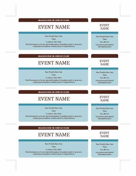 Fundraising Tickets Templates