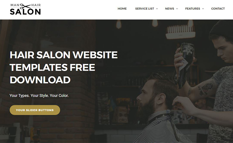 Hair Salon Website Template Free Download